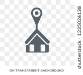 home location icon. trendy flat ... | Shutterstock .eps vector #1235026138