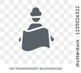 touristic map icon. trendy flat ... | Shutterstock .eps vector #1235026522