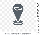 airport pin icon. trendy flat... | Shutterstock .eps vector #1235031568