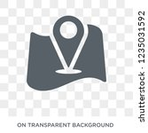 add to map icon. trendy flat... | Shutterstock .eps vector #1235031592