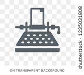 typewriter icon. trendy flat... | Shutterstock .eps vector #1235031808