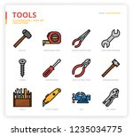 tools icon set | Shutterstock .eps vector #1235034775