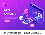 data analytics concept with... | Shutterstock .eps vector #1235035522