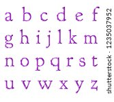 glowing bright purple plastic... | Shutterstock . vector #1235037952