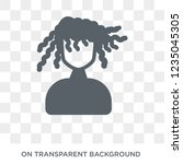 woman with curls icon. trendy... | Shutterstock .eps vector #1235045305