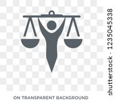 law and justice icon. trendy... | Shutterstock .eps vector #1235045338