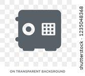 safe icon. trendy flat vector... | Shutterstock .eps vector #1235048368