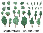 vector set of leaves  trees and ... | Shutterstock .eps vector #1235050285