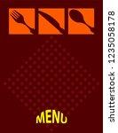 menu card design template...   Shutterstock .eps vector #1235058178