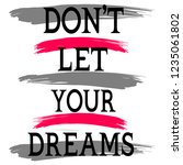 stylish trendy slogan tee t... | Shutterstock .eps vector #1235061802