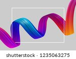 abstract poster with white... | Shutterstock .eps vector #1235063275