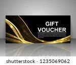 gift voucher template....   Shutterstock .eps vector #1235069062
