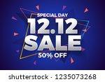 12.12 shopping day sale banner...   Shutterstock .eps vector #1235073268