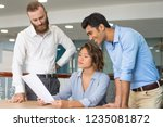 serious female lawyer checking... | Shutterstock . vector #1235081872