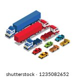 set of urban public and freight ... | Shutterstock .eps vector #1235082652