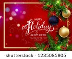 holidays greeting card for... | Shutterstock .eps vector #1235085805