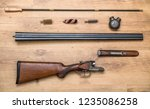 disassembled double barreled... | Shutterstock . vector #1235086258