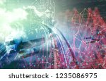 abstract background trucks... | Shutterstock . vector #1235086975