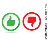 like and dislike icons set.... | Shutterstock .eps vector #1235094748