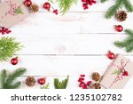christmas background concept.... | Shutterstock . vector #1235102782