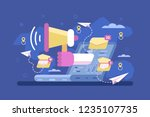 mail marketing strategy... | Shutterstock .eps vector #1235107735