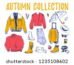 vector collection of trendy... | Shutterstock .eps vector #1235108602
