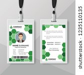 creative id card template with...   Shutterstock .eps vector #1235110135