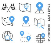 map search sign icon set | Shutterstock .eps vector #1235115418