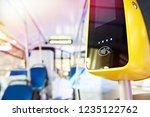 modern touch payment terminal... | Shutterstock . vector #1235122762