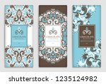 luxury blue packaging design of ... | Shutterstock .eps vector #1235124982