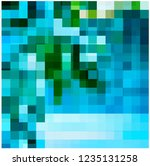 chaos colored mosaic on glass    Shutterstock .eps vector #1235131258