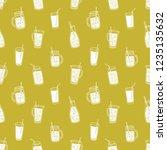 monochrome seamless pattern... | Shutterstock .eps vector #1235135632