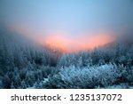 fantastic dawn winter landscape ... | Shutterstock . vector #1235137072