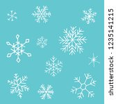 collection of christmas...   Shutterstock .eps vector #1235141215