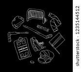 hockey set vector illustration | Shutterstock .eps vector #1235144512