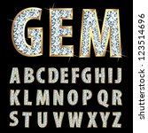 vector golden alphabet with... | Shutterstock .eps vector #123514696