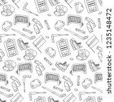 hockey set illustration | Shutterstock . vector #1235148472