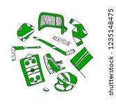 hockey set illustration | Shutterstock . vector #1235148475