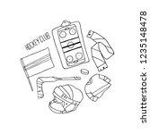 hockey set illustration | Shutterstock . vector #1235148478