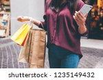 consumerism  shopping ... | Shutterstock . vector #1235149432