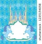 beautiful unicorn and fairy...   Shutterstock .eps vector #1235154058