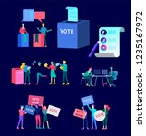 voting and election concept.... | Shutterstock .eps vector #1235167972