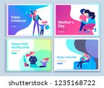 set of landing page templates... | Shutterstock .eps vector #1235168722