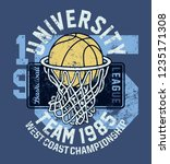 basketball league university... | Shutterstock .eps vector #1235171308
