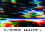 abstract glitch digital color... | Shutterstock .eps vector #1235189542