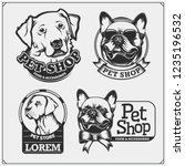 emblems with dogs portrait for... | Shutterstock .eps vector #1235196532