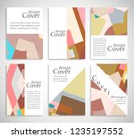 set of a4 cover  abstract... | Shutterstock .eps vector #1235197552