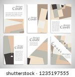 set of a4 cover  abstract... | Shutterstock .eps vector #1235197555
