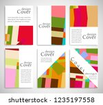 set of a4 cover  abstract... | Shutterstock .eps vector #1235197558
