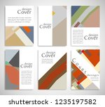 set of a4 cover  abstract... | Shutterstock .eps vector #1235197582
